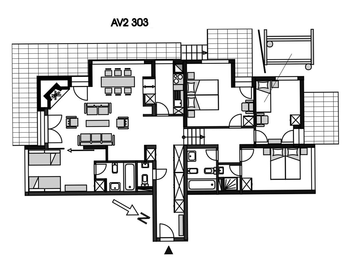 Appartement de vacances AV2 303 (2002048), Anzère, Crans-Montana - Anzère, Valais, Suisse, image 11